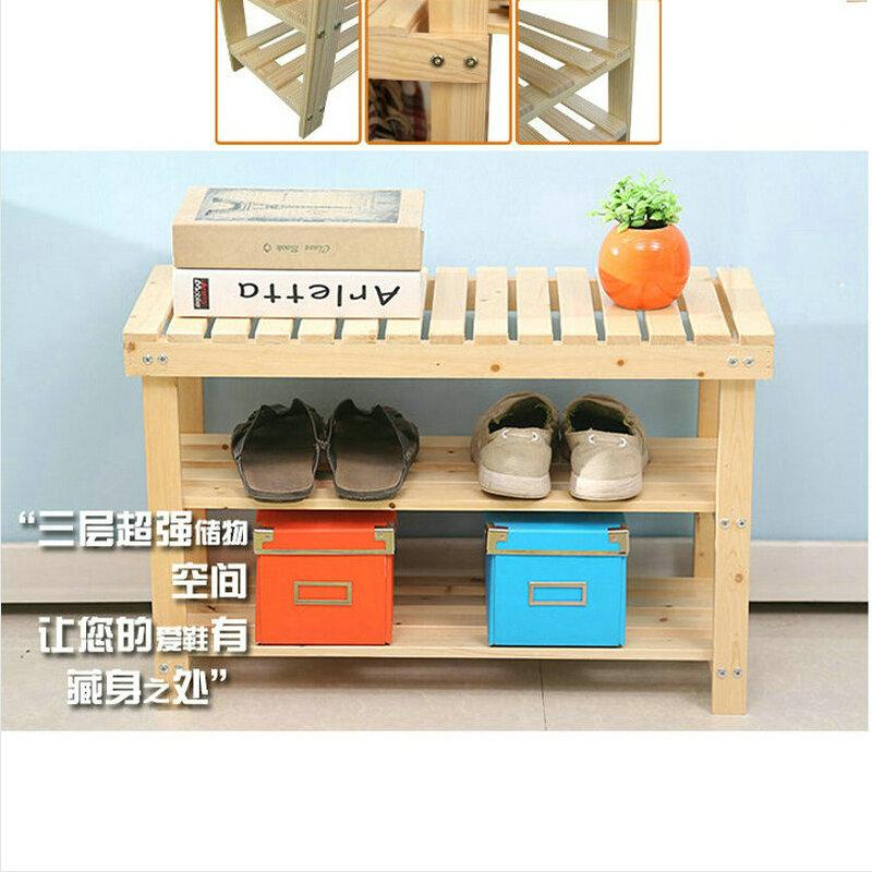 100x29x46cm 100 Solid Wood Shoe Rack Storage Simple Fashion Living Room Shoe Cabinet Racks In