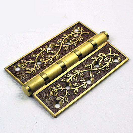 Simple European style all brass 5 inch door hinges classical high quality with ballbearing strong hinges Free shipping(China (Mainland))