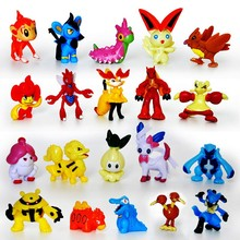 Pokemon Figures Model Toys 15pcs/lot New Cute Pikachu Monster Mini Figure Toys Kids PVC Collection Toy Gift