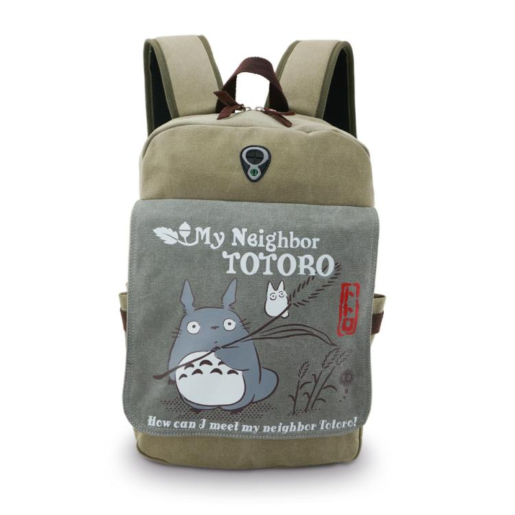 High-Q Unisex Q OP Japan cartoon ONE PIECE Canvas backpacks bags Harajuku preppy Nyanko-sensei Totoro zoro canvas backpacks bag(China (Mainland))