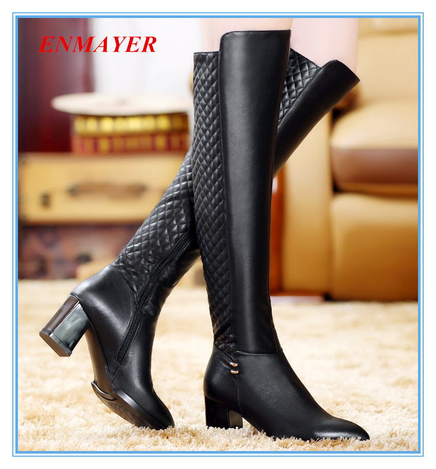 ENAYER 2014 NEW arrivals big size 34-43 fashion over the knee boots sexy long motorcycle boots for women high heels<br><br>Aliexpress
