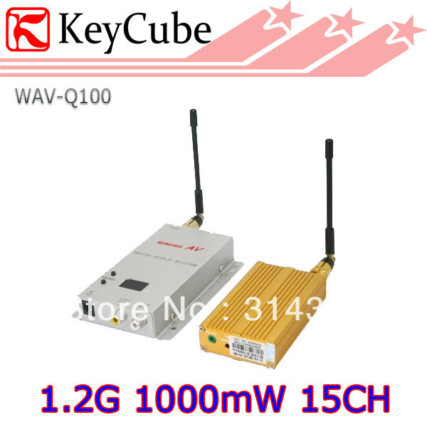 1.2G Wireless Video/Audio AV Transmitter & Receiver 1000mW 15CH 1W Long distance Free Shipping(China (Mainland))