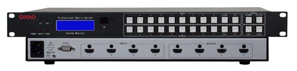 Professional 8 Port 4X4 HDMI Matrix switch Switcher HD 1080P Video Display Auto Loop RS232 IR remote control, Scenes Plan(China (Mainland))