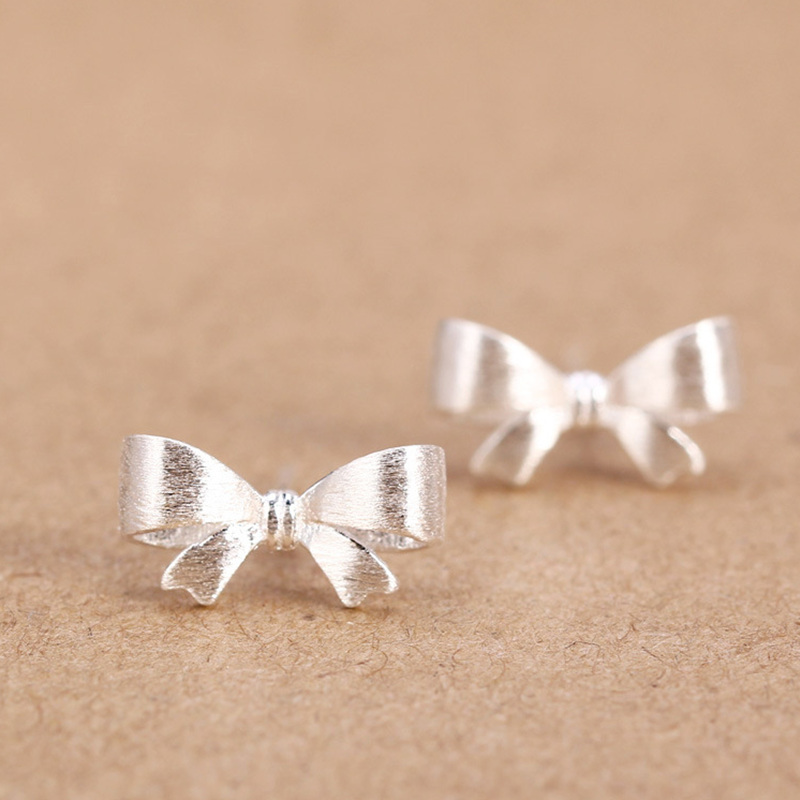 Womens 100% 925 Sterling Silver Jewelry Fashion cute Tiny Butterfly Stud Earrings Gift for School Girls Kids Lady DS14(China (Mainland))