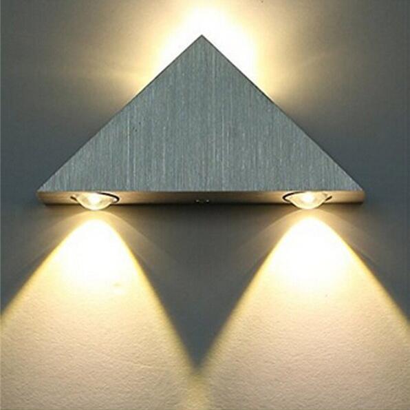 3W Warm White Aluminum LED Wall Lamp Living Room Bedroom Hallway Corridor Wall Sconce lights AC110V-220V YF-39