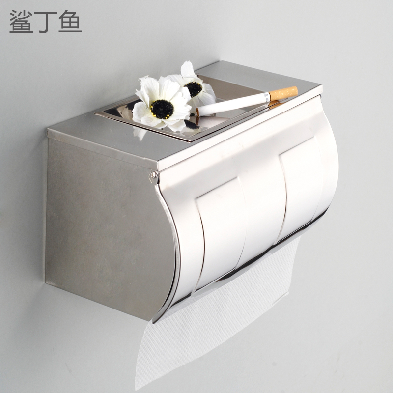 Shark small fish bathroom stainless steel toilet roll toilet paper carton box paper holder tissue box pumping tray extension(China (Mainland))