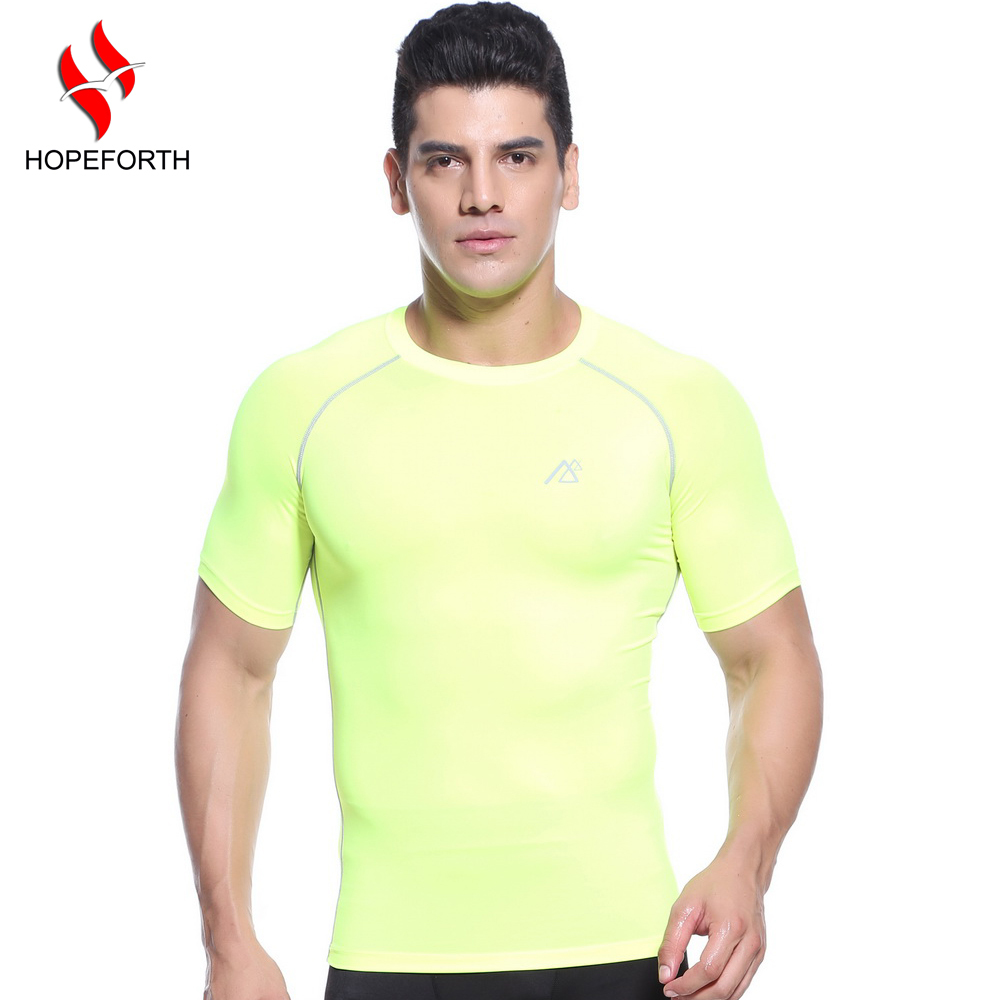 Men Long Sleeves Compression Underwear Base Layer Shirts Skin Tight Running Training Weight Lifting Sports Clothing