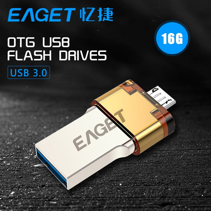 EAGET V80 Official USB stick 16G Smartphone USB 3.0 Flash Drive Pen Drive Micro USB otg usb stick Portable Memory Double Plug<br><br>Aliexpress