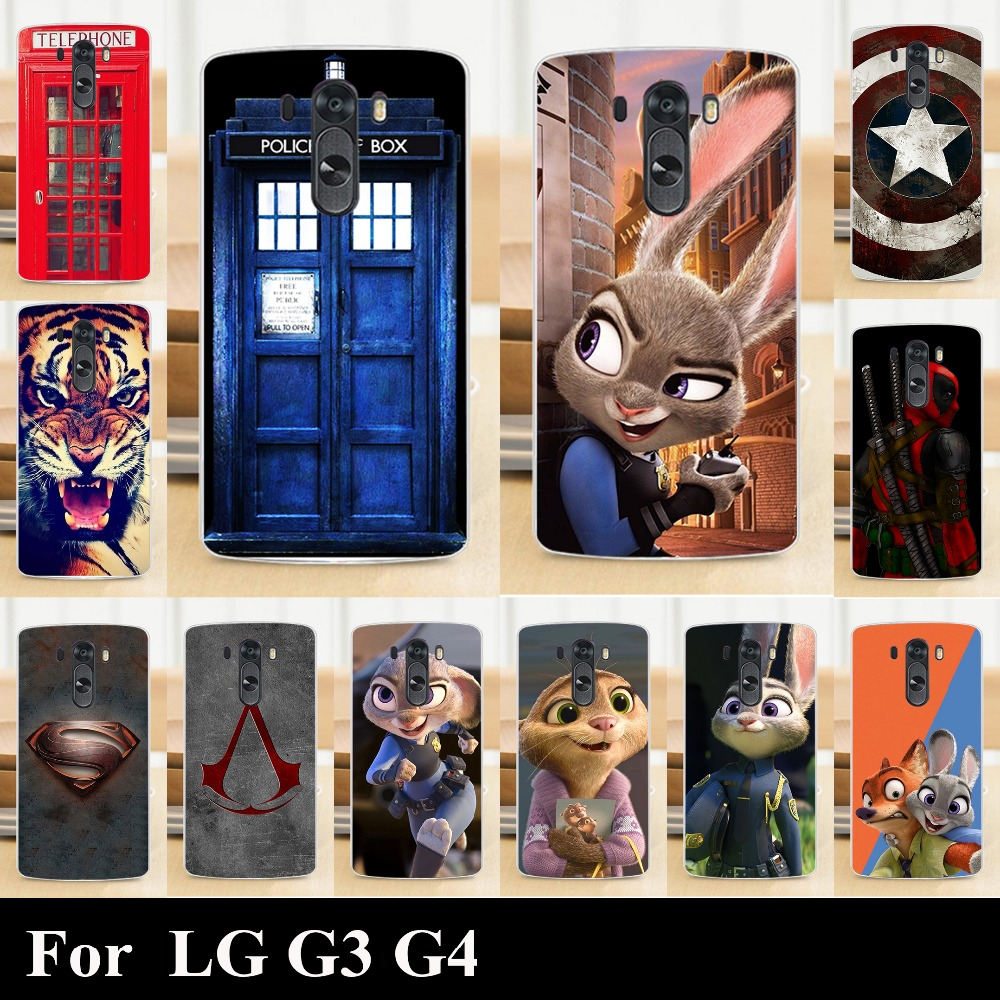 High Quality Transpatent Hard Plastic Color Paint Painting Case For LG G3 G 3 Mobile Phone Cover Case(China (Mainland))