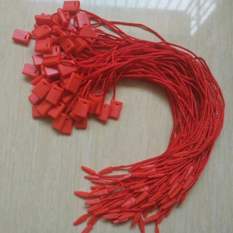 100 pcs/lot Paper Tags red cords for clothing ropes Hang tag strings for t shirt MZ-2292(China (Mainland))