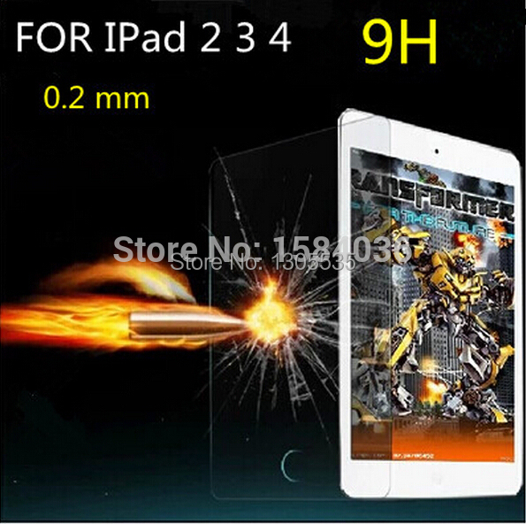 Premium Crystal Clear Tempered-Glass Screen Protector For IPad 2 3 4 Protective Film 9H 0.26MM(China (Mainland))