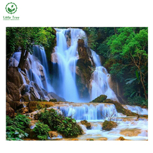 Buy NEW 3D DIY Diamond Painting Waterfall landscape rhinestones set Embroidery resin craft yarn dyed wall decor Cross Stitch for $9.18 in AliExpress store