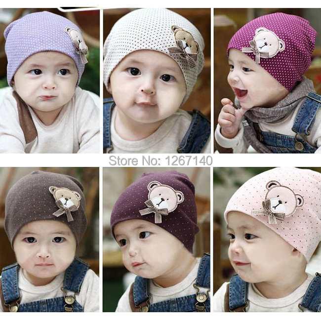 1pcs/lot free shipping baby hat baby cap knitted crochet Beanie Infant Hat Bear Pattern skull Cap Toddler Boys & Girls fhhV9u(China (Mainland))