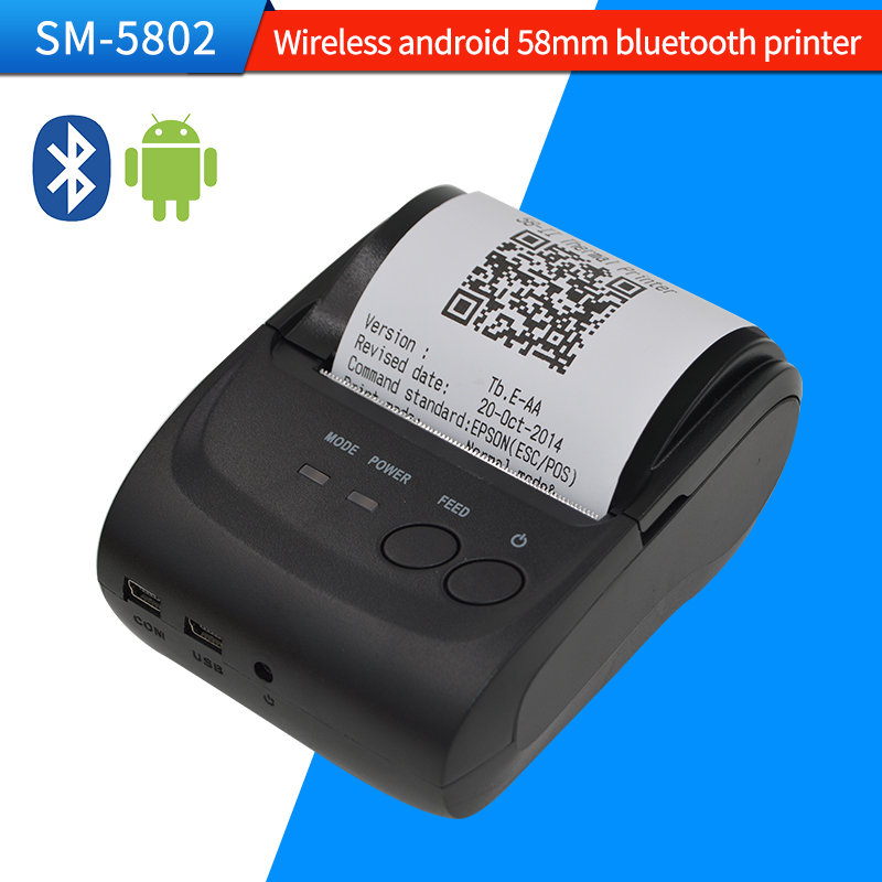 10pcs/lot Free SDK Mini Wireless 58mm Portable Bluetooth Thermal Printer Thermal Receipt Printer for Android Mobile Wholesale(China (Mainland))