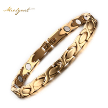 Buy Meaeguet Gold-Color healthy magnetic bracelets&bangles men stainless steel bangle bracelet body care jewelry for $8.24 in AliExpress store