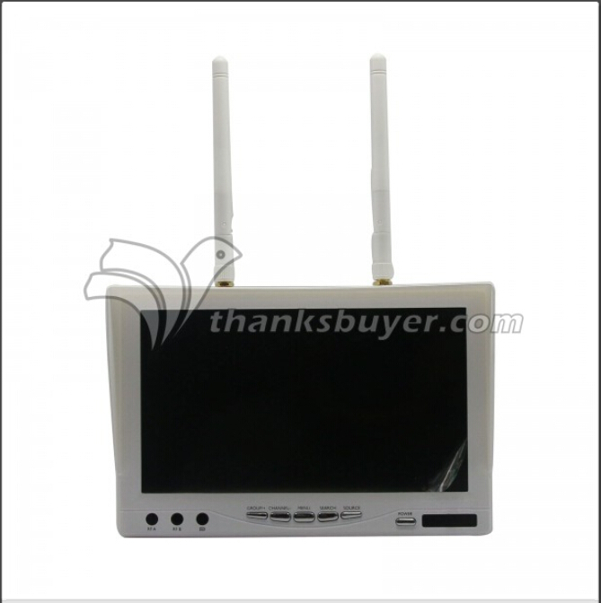 5.8G 7 LCD FPV Monitor w/ Built-in Battery 32CH Dual Receiver for DJI Phantom 2<br><br>Aliexpress