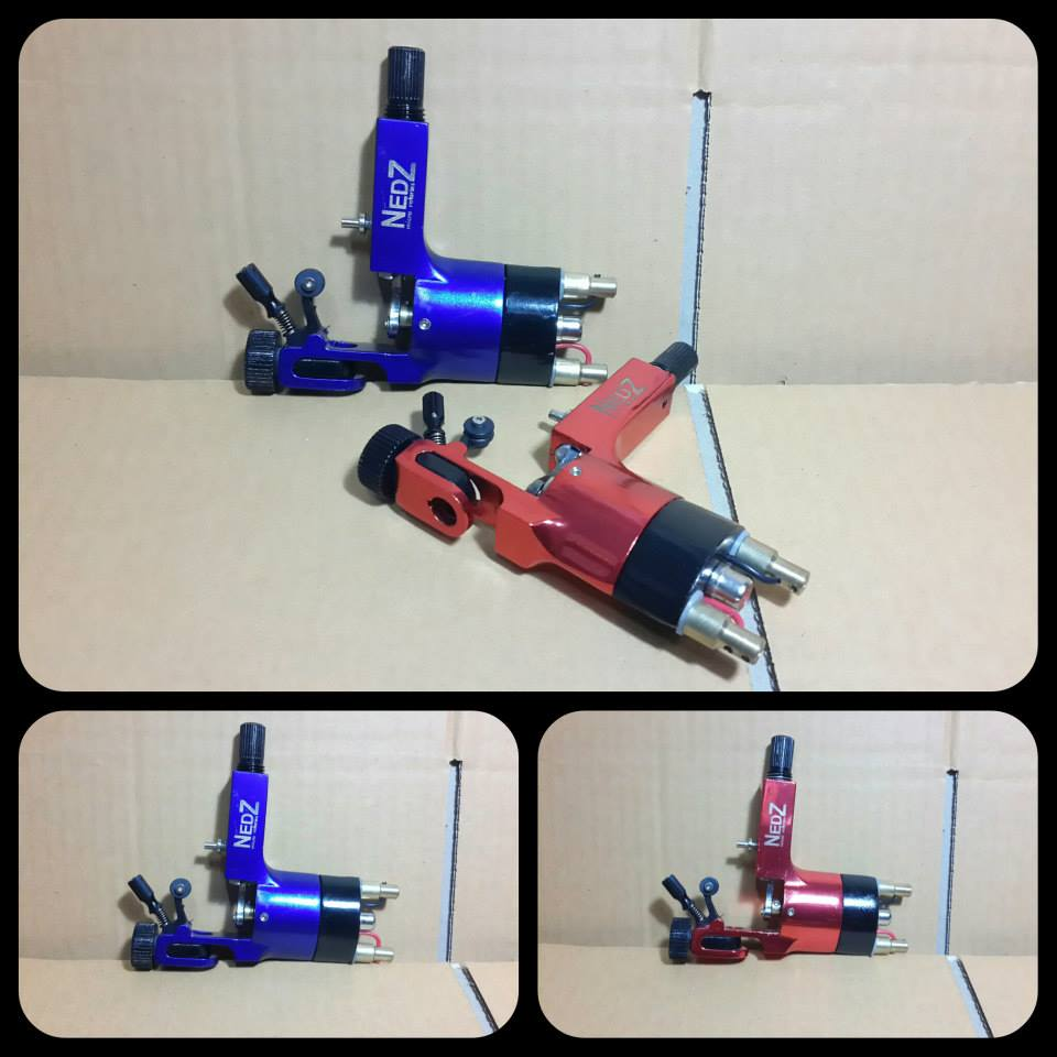 Free shipping Blue Rotary Tattoo Machine Gun NEDZ Style Heavy Duty Gun Shader Liner Silver<br><br>Aliexpress