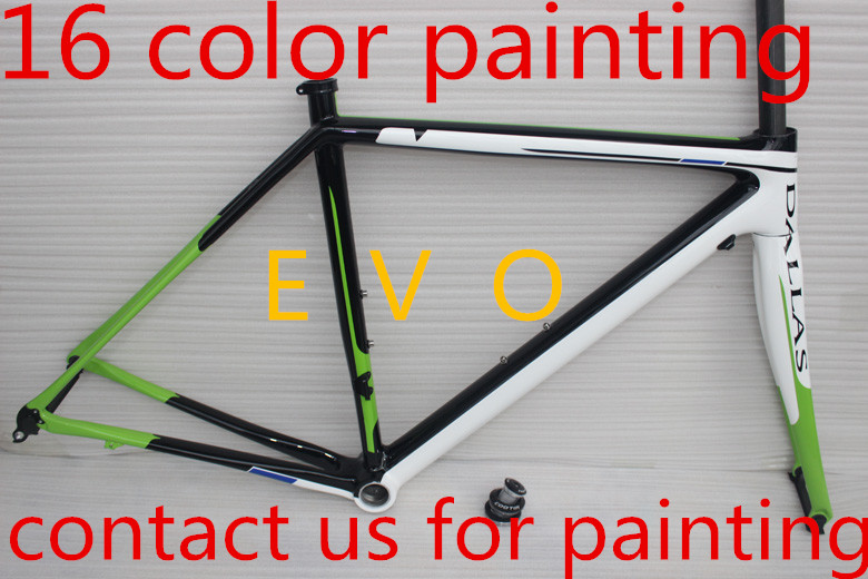 16 color painting supersix evo carbon road frame full carbon fiber road bicycle framest BB30 BB68 chinese Carbon bike frame(China (Mainland))