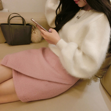 Rabbit Fur Cashmere Sweater Women Sweaters and pullovers  Mink fur Cashmere Knitted Pullover ladies sweater(China (Mainland))