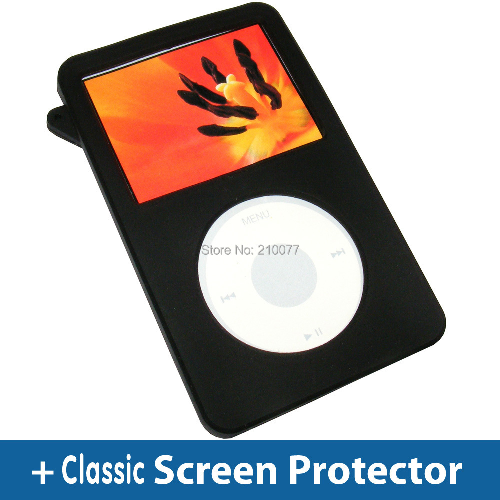 Free gift Black Silicone Skin Soft Cover Case for iPod Classic 80GB 120GB New Classic 160G 3rd Free Shipping(China (Mainland))