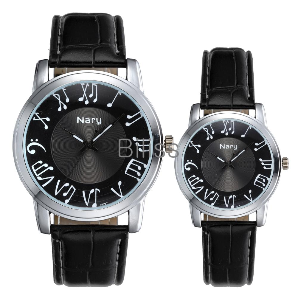 Fashion Lovers Men Women Leather Band Watches Earl Notes Waterproof Couples Wrist Watches Cool Automatic Watch(China (Mainland))
