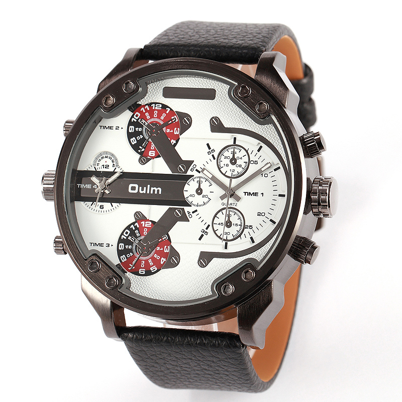 NEW Fashion Army Military watches men sport Oulm Double Time Show Quartz Wrist Watch Male clock Brand Reloj Relogio Masculino<br><br>Aliexpress