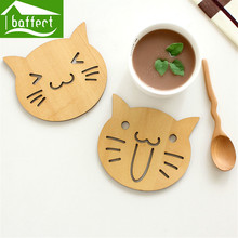 2 pcs/lot Animal Cork Drink Coaster Tea Coffee Cup Mat Flexible Table Heat Resistant Round Drinks Mats Free Shipping