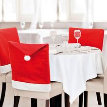 1 pcs 2015 Nova Moda Chapéu de Papai Noel Vermelho Tampa Da Cadeira de Volta Mesa de Jantar de Natal Do Partido Decoração Para O Natal(China (Mainland))