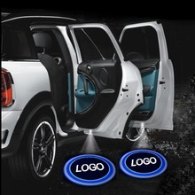 Fashion 2 x Wireless Car Door LED Welcome Laser Projector Logo Ghost Shadow Light Lamp free shipping(China (Mainland))