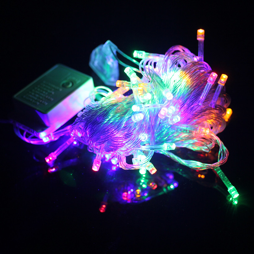 Christmas String Lights Stars : 10 meters Waterproof LED lights flashing string lights wedding decorative light string Starry ...