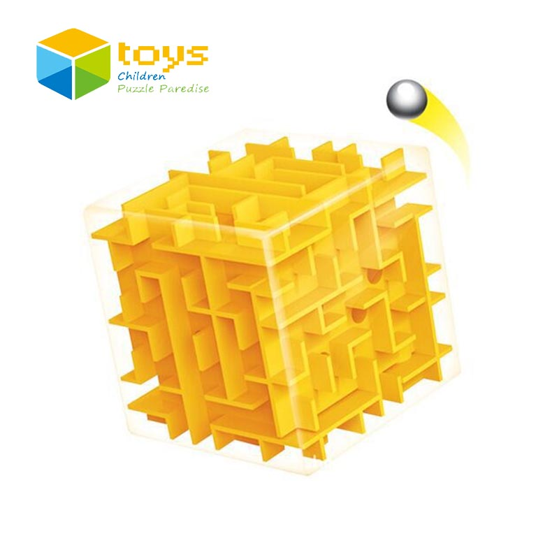 3D Magic Cube Maze Puzzle Labyrinth Perplexus Intellect Learning Education Speed Classic Toys for Children Kids Birthday Gifts(China (Mainland))