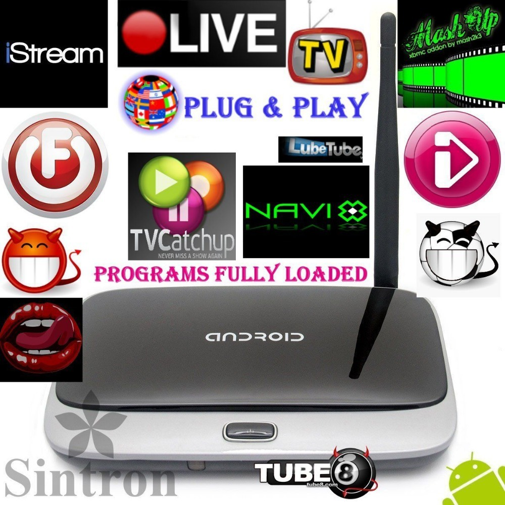 [Sintron]New CS918 Android TV Box 4.4 Quad Core Smart PC Programs Films fully loaded,Media Player Network Streamer,Free Shipping(China (Mainland))