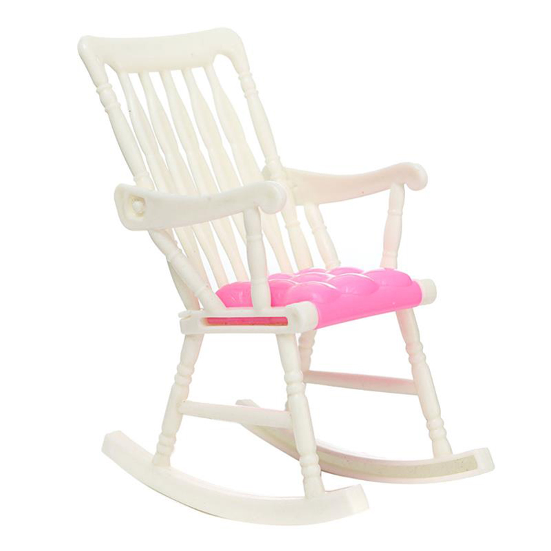 Toy Rocking Chair Small Seat Doll Furniture Dolls Accessories Kid Play ...