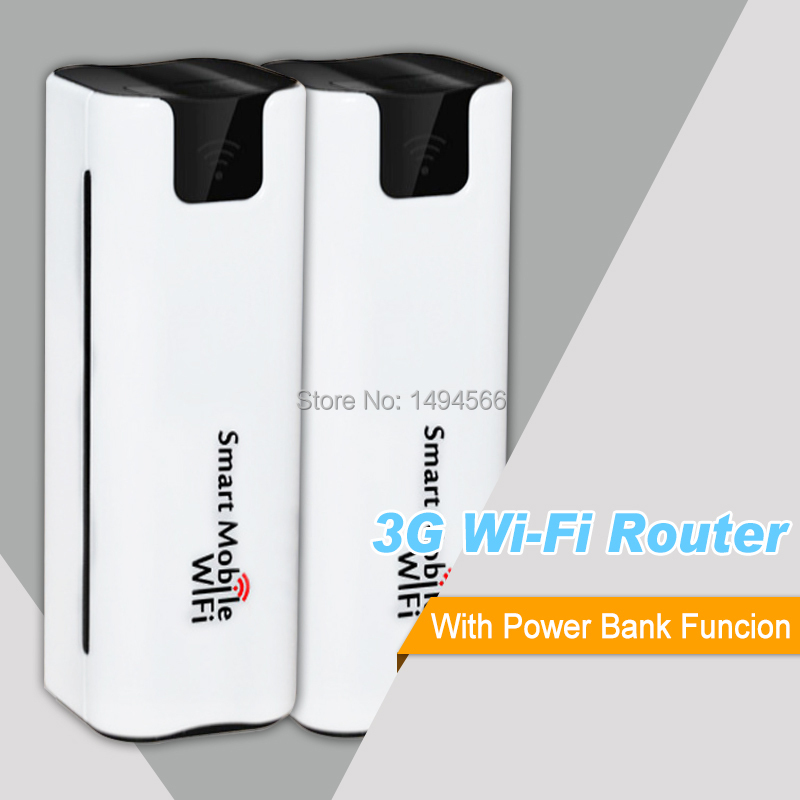 New Mobile Portable Hotspot Mini Wireless Power Bank Battary Charger Mifi 3G Wifi Router with Sim Card Slot Unlocked(China (Mainland))