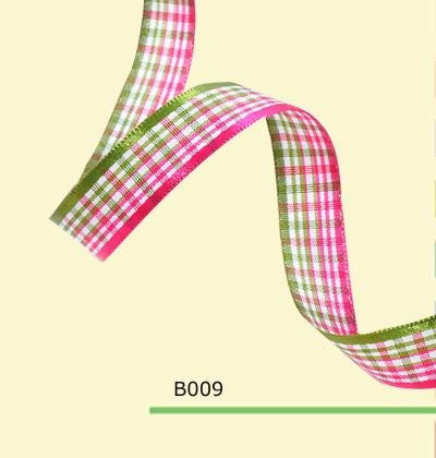 100yards roll 5 8 Inch 15mm Green And Pink font b Tartan b font Plaid Craft