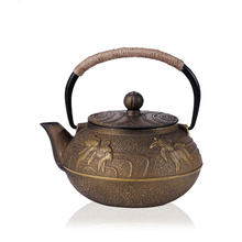 2016 New Cast Iron Tea Pot Uncoated Japanese Kung Fu Teapot With Filter Handpainted Drinkware Kettle 32(China (Mainland))