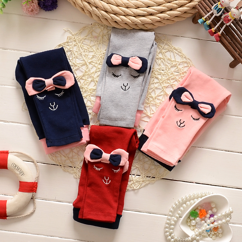 Promotion 2016 New Spring baby clothing latest Style cotton material character print girls pants Leggings B106 - Helen Children's shop store