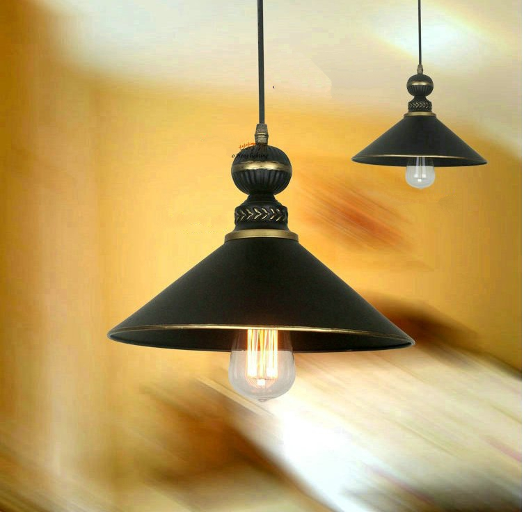 Lighting Fixtures Vintage IRON lamp LED European American minimalist retro  industrial wind Iron Pendant Lights bar restaurant <br><br>Aliexpress