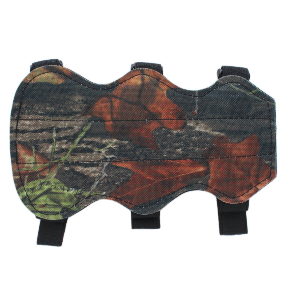 Archery Bow Arm Guard Protection Forearm Safe 3 Strap Camo Leather New free shipping