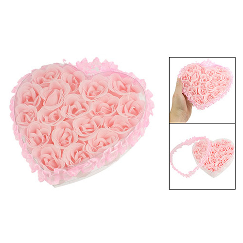 Best Sale 18 in 1 Bath Body Flower Heart Favor Soap Rose Petal Wedding Decoration Party(China (Mainland))