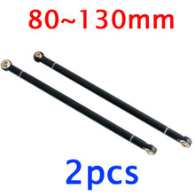 Buy 2pcs Pull bar Linkage Metal link rod spare parts 1/10 SCX10 D90 RC Crawler truck car 80/90/95/100/110/120/130mm for $8.99 in AliExpress store