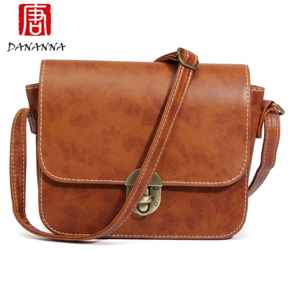 New Women lady Vintage Small Shoulder Bags Solid Handbags Retro Flap Cross body Messenger Bag Metal Hasp Button Open(China (Mainland))