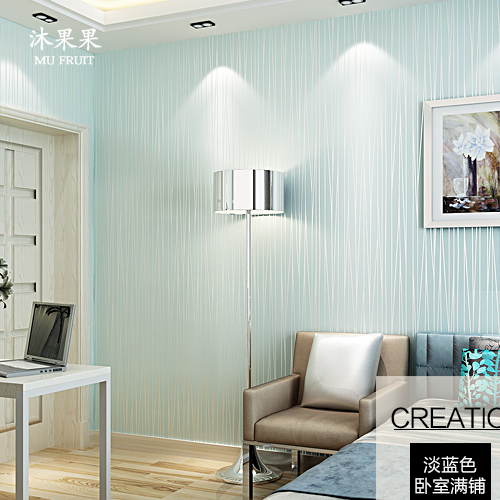 Blue Striped Wallpapers For Walls Blue Stripe Wall Paper Non Woven Living Room Wallpaper Stripes