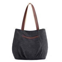 Kvky marca de alta qualidade lona bolsas de ombro das mulheres casuais bolsa feminina do vintage ruched praia tote azul marrom cinza bolsa(China)