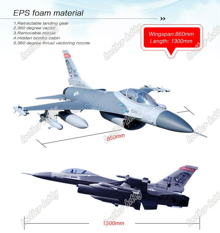 RTF 8CH F16 Fighting Falcon electric remote control airplanes model(China (Mainland))