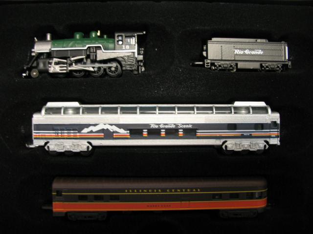 ATLAS MINI TRAINS 1: 220 RIO GRANDE SCENIC pure static model trains(China (Mainland))