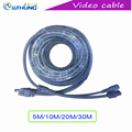 CCTV Extension Ethernet Video Cable RJ45 DC 12V Power CCTV Network Lan Cable 5M 10M 20M