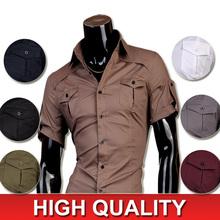 HoT 2016 Mens Fashion Cotton Designer Cross Line Slim Fit Dress man Shirts Tops Western Casual S M L XL 8360(China (Mainland))