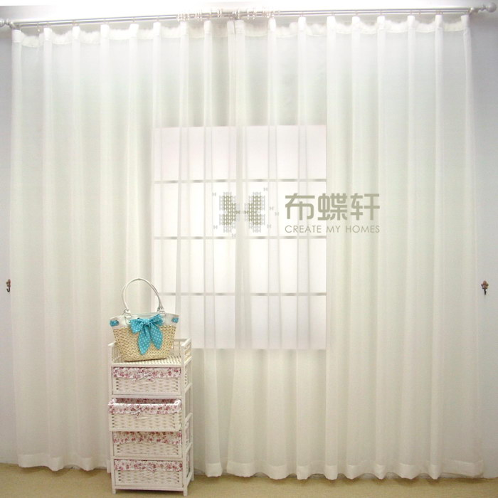 New White Window Curtain For The Living Room Sheer Curtains Cortina Para Quar