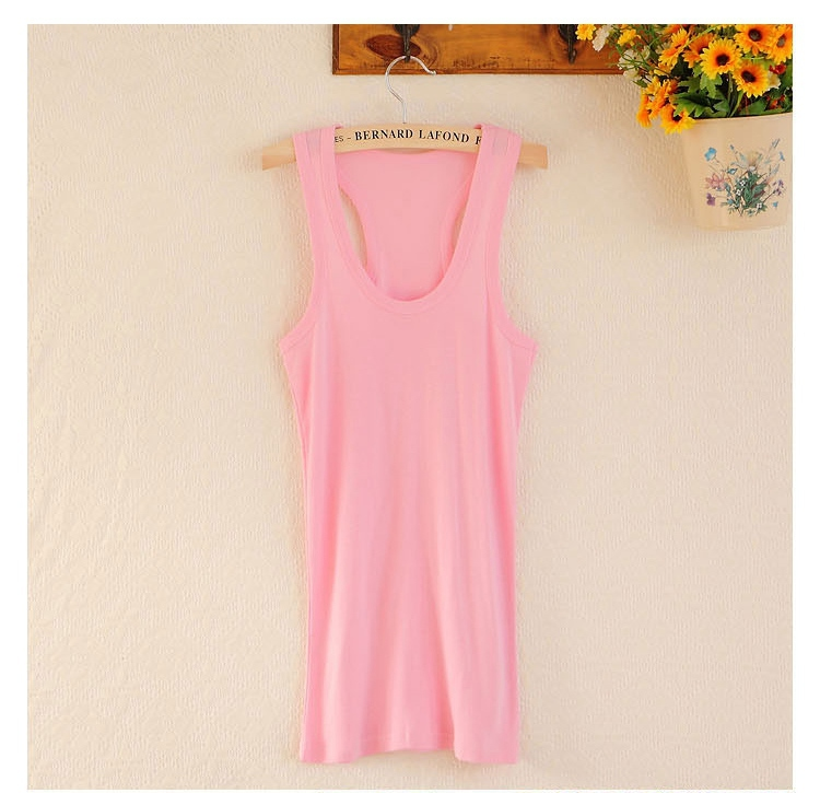2016 summer Women candy color tanks camisole fitness t shirt top 100% cotton singlet plus size basic tank tops one sizes blusas(China (Mainland))